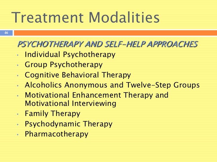 Treatment of Alcoholism Modalities