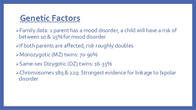 genetic factors of mood disorder