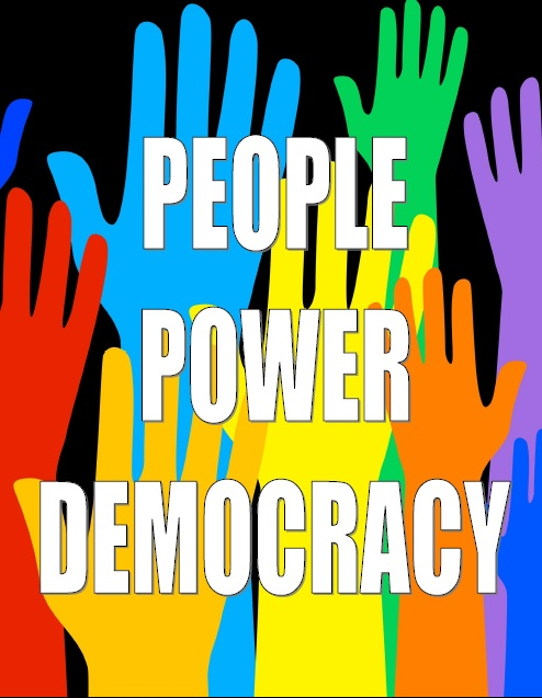 Indian democracy: Represents the people power of democracy