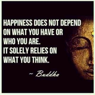 Buddha Quote: being happy