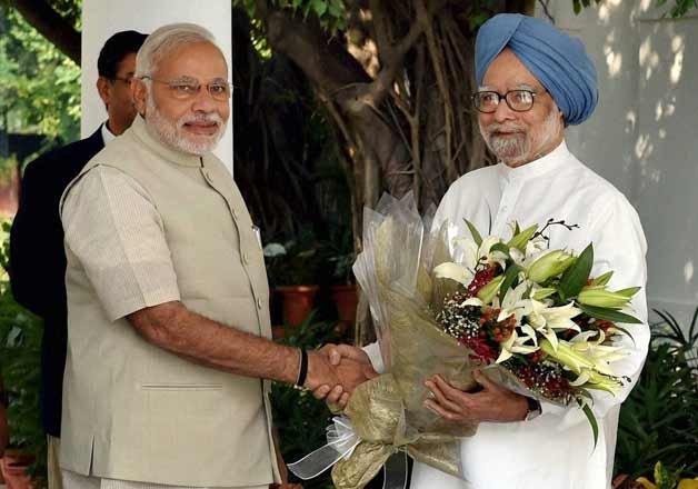 Narendra Singh Modi And Manmohan Singh