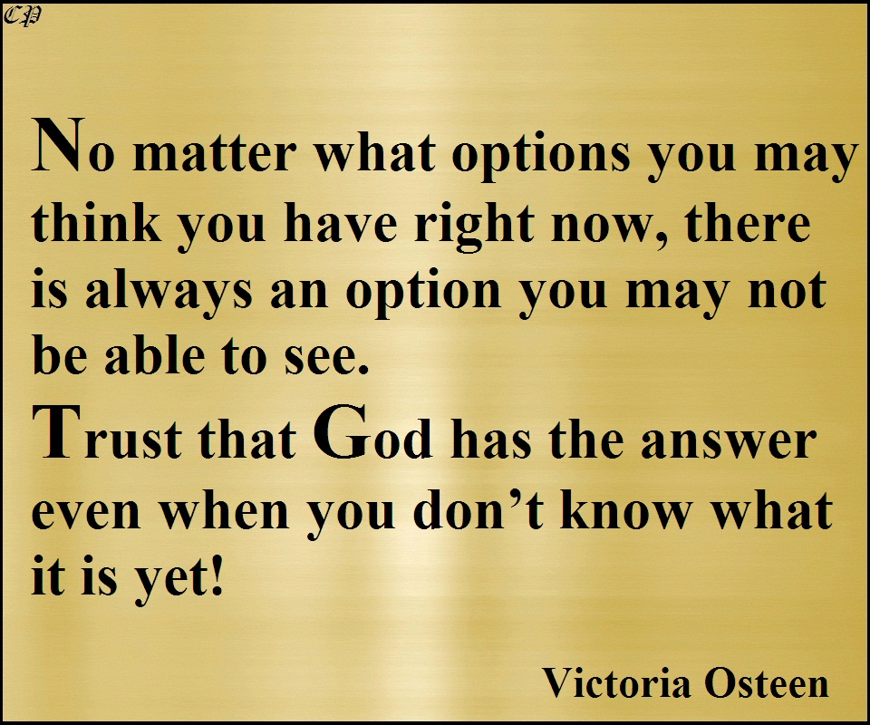 Thrust that God, Quote by Victoria Osteen