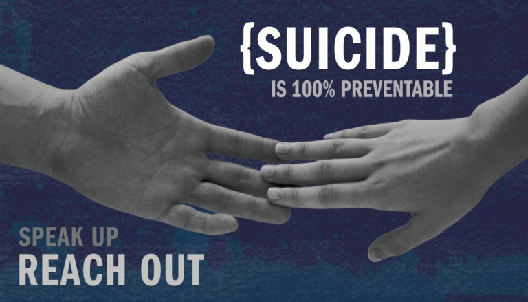100% Suicide prevention: Speak Up Reach Out