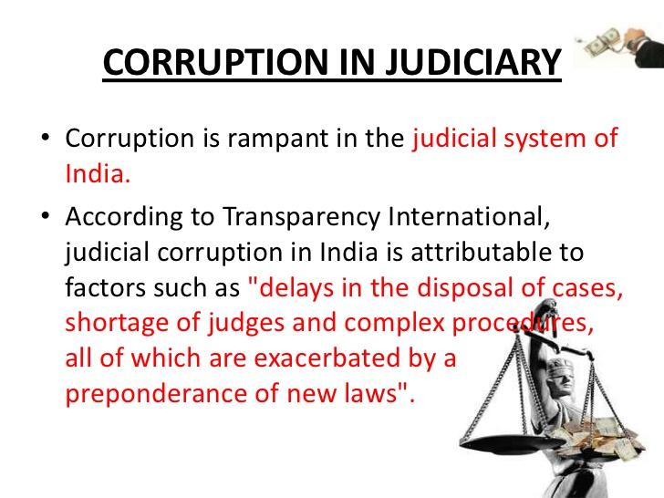 Be Vigilant: Corruption in Judiciary