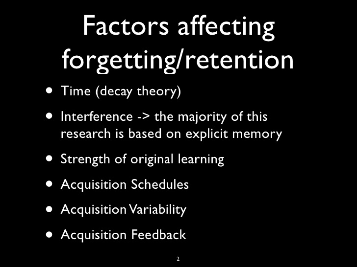 forgetting and retention