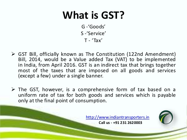 gst goods and services tax in india