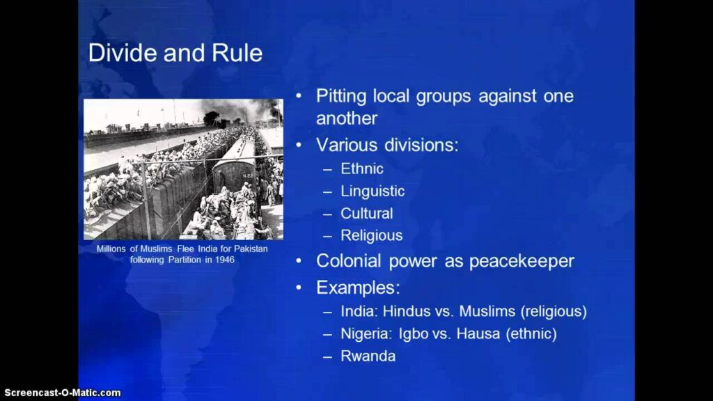 Indian Subcontinent: Divide and Rule