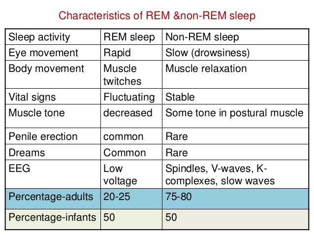 Why is sleep important: Characteristics of REM & Non-REM Sleep