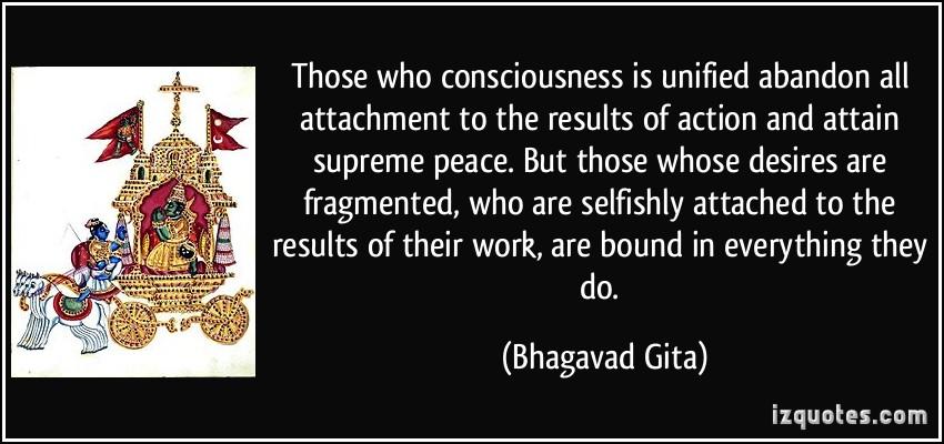 Bhagavad Gita : Power of obsession