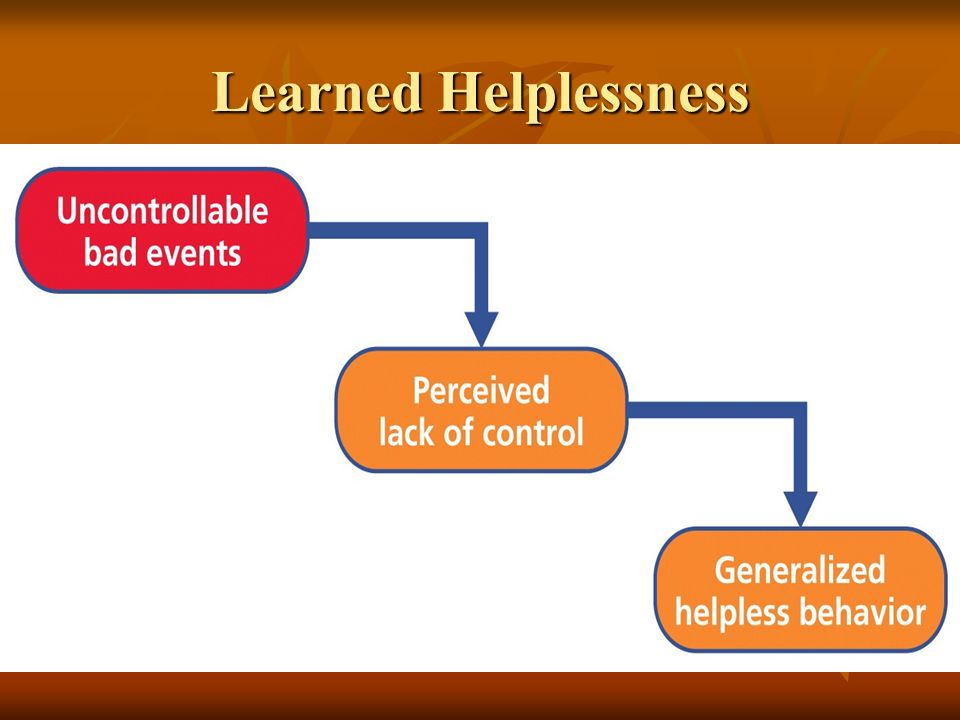 Depression: Learned helplessness
