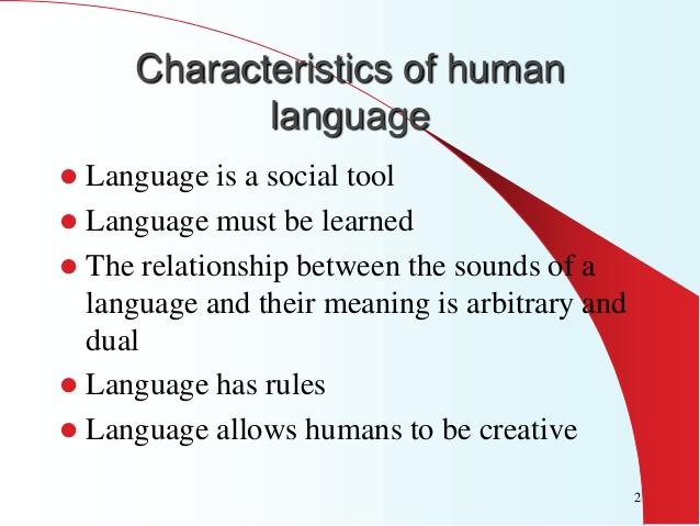 characteristics of human language