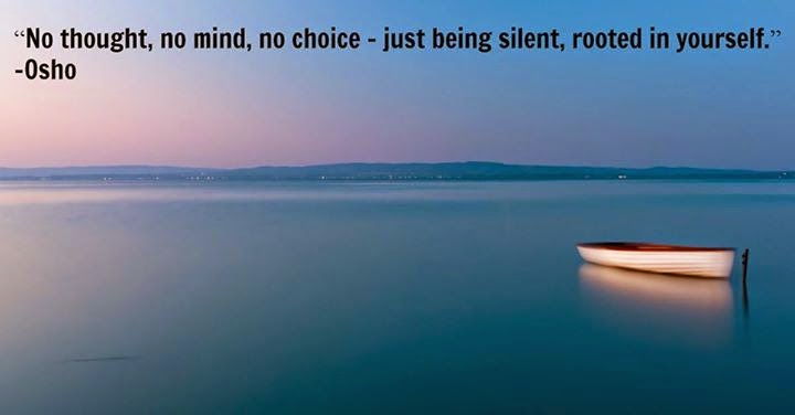 Osho quote:  just being silent (silent idea)