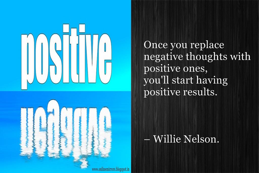 expectation : positive v/s negative